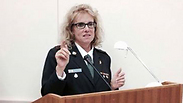 Rachel Tevet-Wiesel speaking at the NATO conference Photo: IDF Spokesperson's Unit