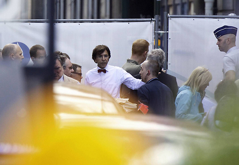 Belgian Prime Minister Elio Di Rupo at the scene of the shooting (Photo: AFP)