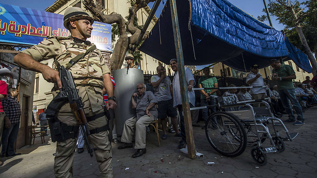 Security at Egypt electionn polls (Photo: AFP)