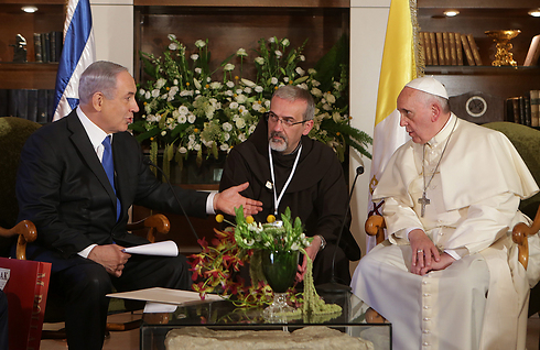 Netanyahu and Francis (Photo: Alex Kolomoisky)