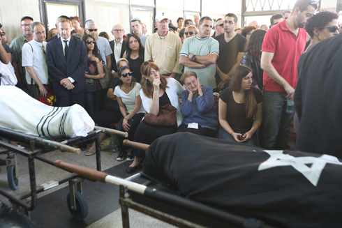 The funeral of Miriam and Emanuel, the Israeli victims of the Brussels attack. (Photo: Yaron Brener) (Photo: Yaron Brener)