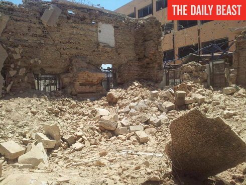 Syria's oldest synagogue in ruins. (Photo: The Daily Beast) Photo: The Daily Beast