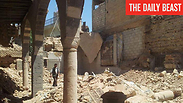 Syria's oldest synagogue in ruins. Photo: The Daily Beast