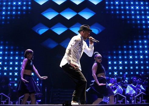 Justin Timberlake at Yarkon Park. Not just 'yalla balagan' (Photo: Yaron Brener)