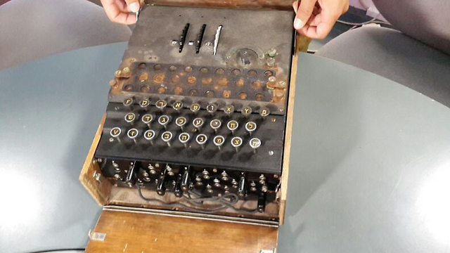 The Enigma machine was converted into Hebrew for use in the IDF. (Photo: Einat Alfasa)