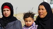 Iraqi refugees fleeing Mosul Photo: AP