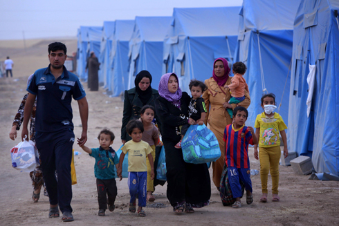 The Iraq crisis already caused a big wave of refugees fleeing areas seized by Islamists (Photo: AFP) (Photo: AFP)