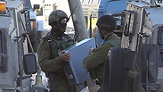 Searching for missing teens in the Hebron area Photo: AFP