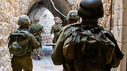Nahal troops scanning Hebron Photo: IDF