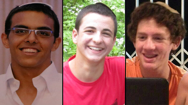 Kidnapped teens: Eyal Yifrach, Gil-Ad Shaer and Naftali Frenkel