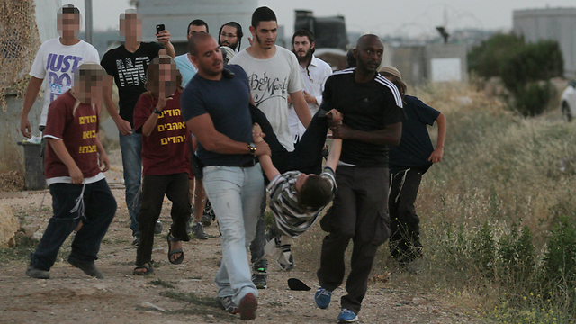 Protests resulted in the arrest of three for disturbing the peace. (Photo: Ido Erez) (Photo: Ido Erez)
