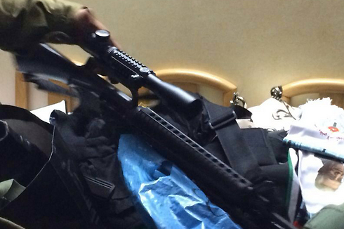 Weapons found in overnight operation (Photo: IDF Spokesman) Photo: IDF Spokesman