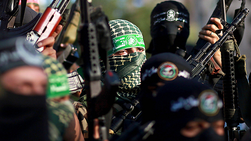 Hamas men in Gaza (Photo: EPA)