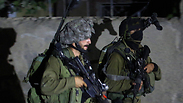 IDF soldiers in overnight raid in West Bank Photo: EPA