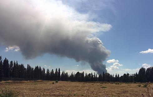 שריפה ב מפעל פלסטיק ב קיסריה אש