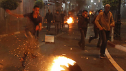 Riots near Ramallah police station Photo: AFP