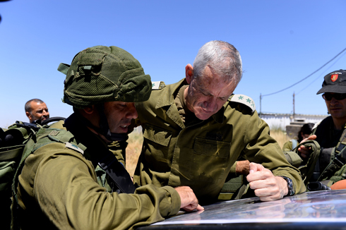 Chief of Staff Benny Gantz visited in the north after the missile attack. (Photo: IDF Spokesperson's Unit) Photo: IDF Spokesperson's Unit