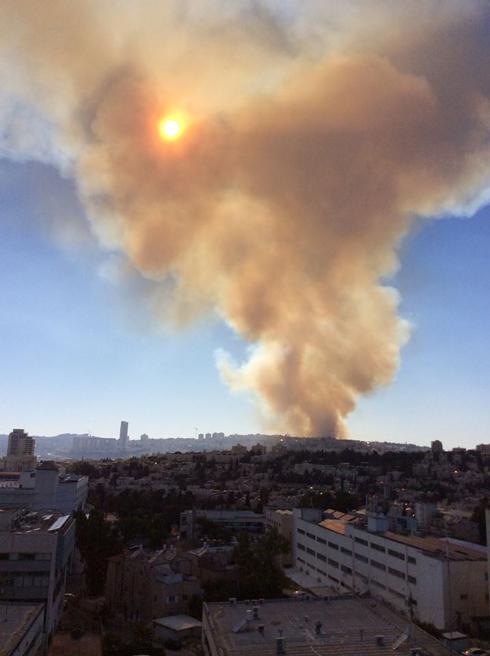 שריפה ב עין כרם קריית יובל ירושלים
