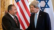 Kerry and Lieberman Photo: AFP