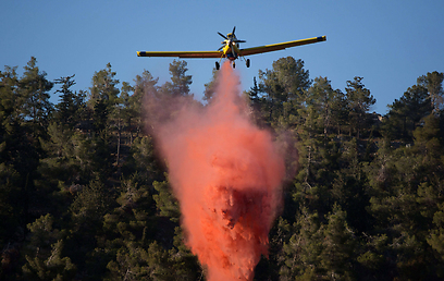 Battling the blaze from the air (Photo: AFP) (Photo: AFP)
