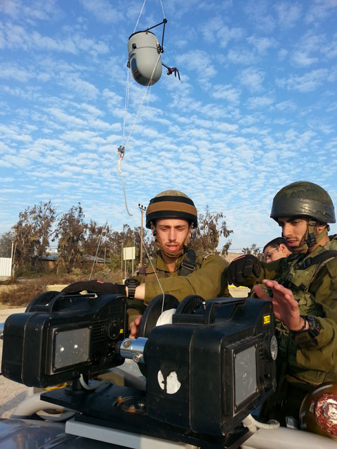 IDF soldiers operating the Hawk Eye (Photo: Courtesy of Shilat)