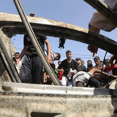 The hit car (Photo: Reuters) (Photo: Reuters)