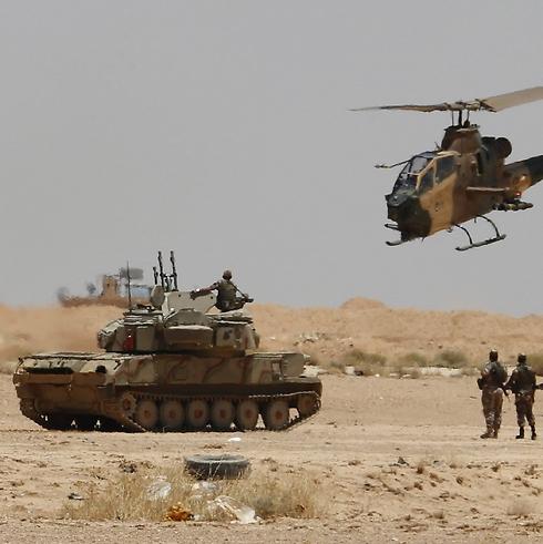 Jordanian army on Iraqi border, earlier this week (Photo: Reuters) Photo: Reuters