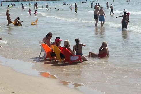 Cooling at the beach (Photo: Motti Kimchi)