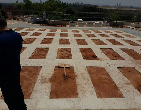 The burial plots where the teens will be laid to rest (Photo: Motti Kimchi)