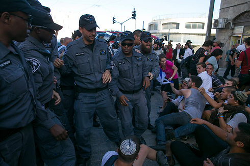 Clashes between Jewish and Arab youths and police (Photo: Ohad Zwigenberg)