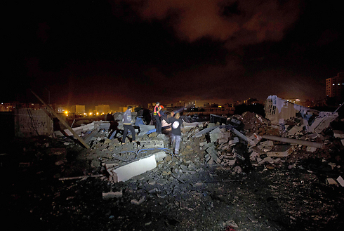 Structure demolished in Gaza Strip (Photo: AFP) (Photo: AFP)