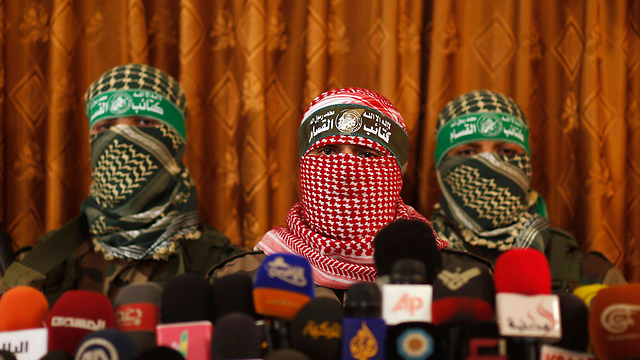 Izz ad-Din al-Qassam Brigades press conference in Gaza (Photo: Reuters)