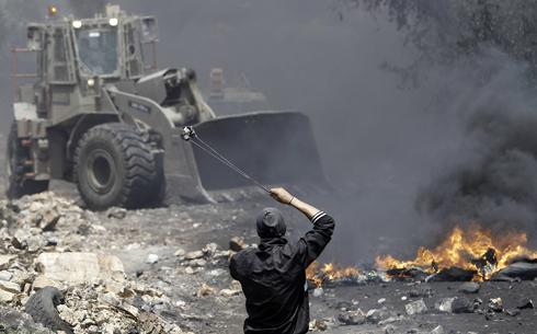 Clashes in Shuafat (Photo: AFP)