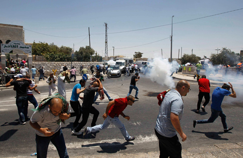 Clashes in Shuafat (Photo: Reuters)