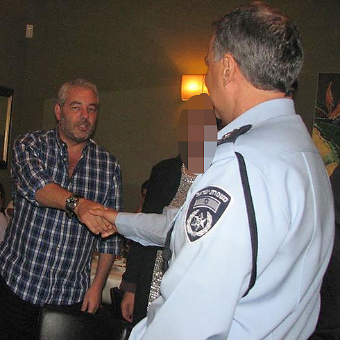 Ronel Fisher with Police Commission Yohanan Danino
