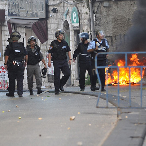 Police forces in Nazareth (Photo: Alarab website) (Photo: Alarab website)