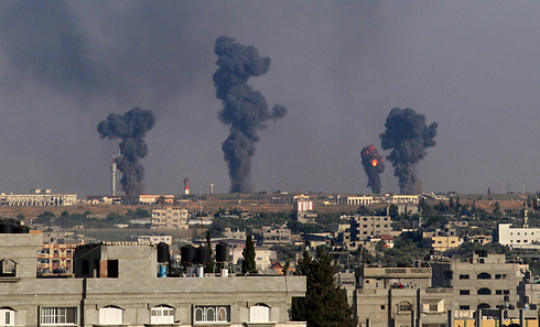 IAF attacks Gaza terror targets (Photo: AFP)