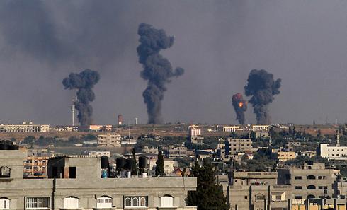 IAF attacks Gaza terror targets (Photo: AFP)