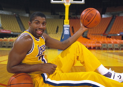 Magic Johnson in the Los Angeles Lakers (Photo: Gettyimages)