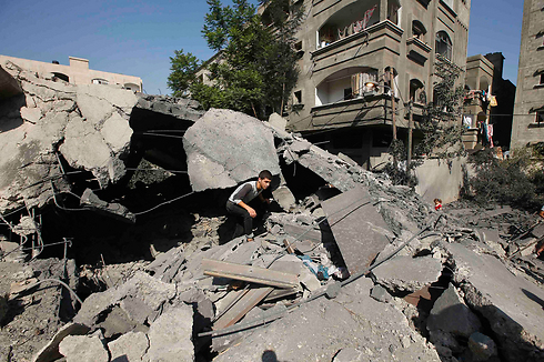 The rubble of a building following an IAF strike in Gaza (Photo: Reuters) (Photo: Reuters)