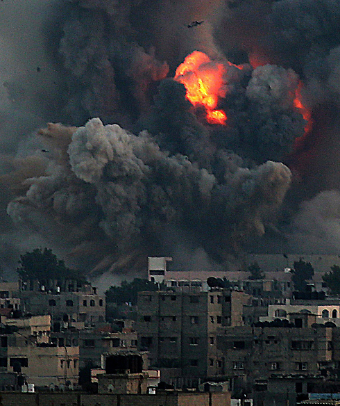 IAF strike on Gaza (Photo: EPA) (Photo: EPA)