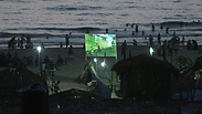 World Cup screening at Gaza beach Photo: AP