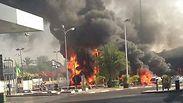 Rocket hits Ashdod gas station
