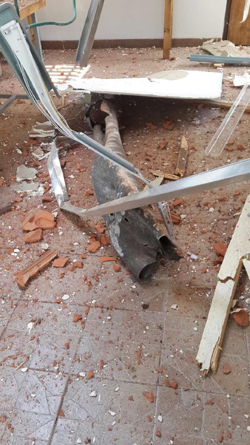 The shrapnel that hit the Tel Aviv synagogue.