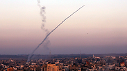Rocket being fired from Gaza Photo: EPA