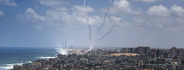 Gaza militants launch rockets from the Strip (Photo: AFP)