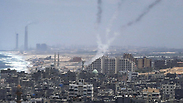 Rockets launched from the Gaza Strip Photo: AFP