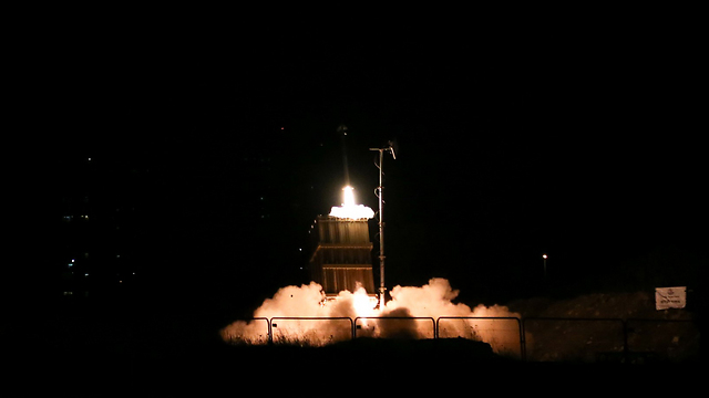 Iron Dome launches interceptor missile (Photo: Yaron Brenner)