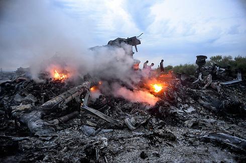 Debris from crash (Photo: EPA)
