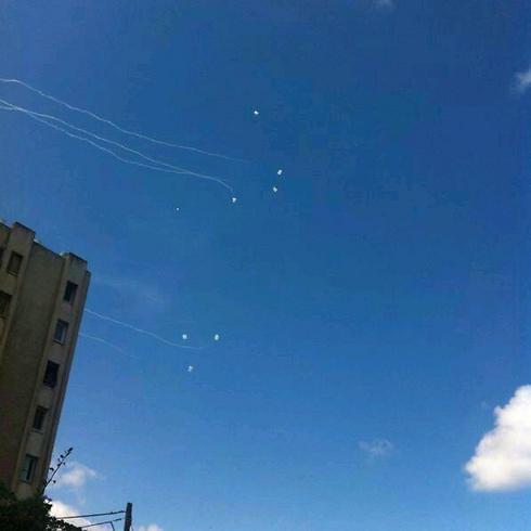 Seven rocket barrage intercepted over Ashdod